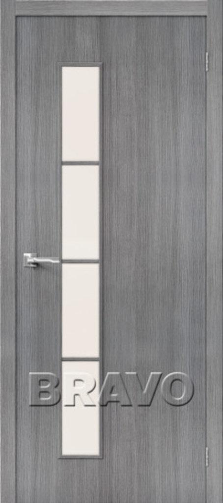 Двери экошпон BRAVO: Тренд-4  Grey Veralinga в STEKLOMASTER