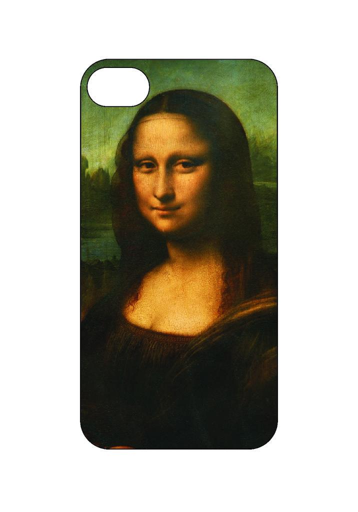 Выбери готовый дизайн для своей модели телефона: Мона Лиза в NeoPlastic