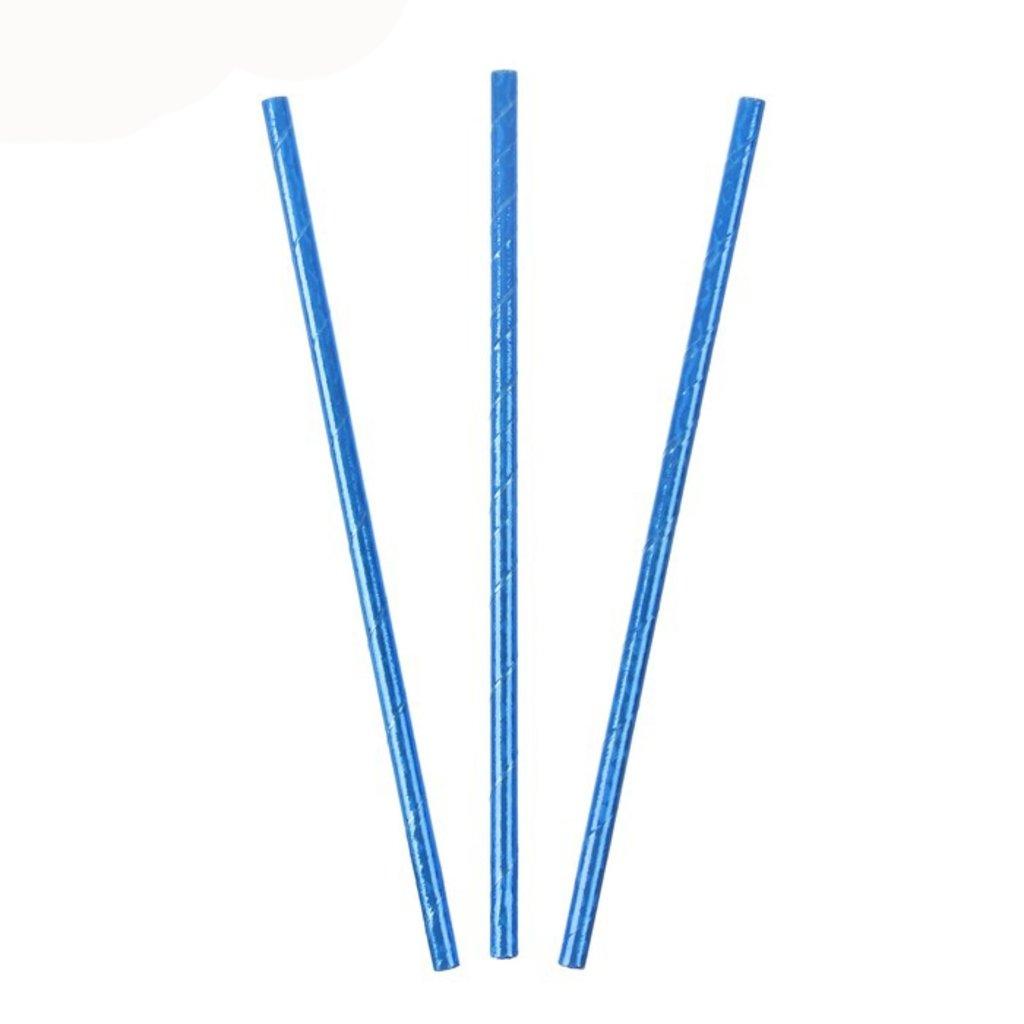Упаковка: Трубочка для коктейля Голография Синий (набор 25шт) в ТортExpress