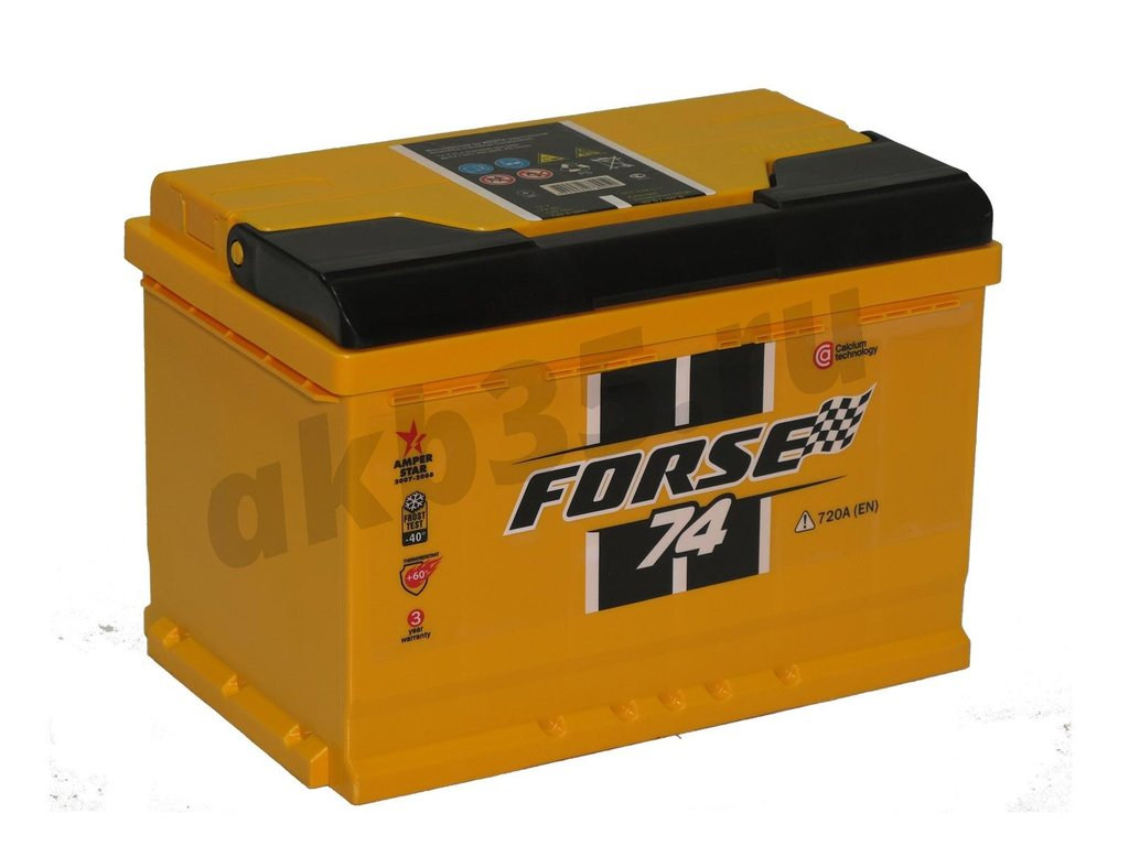 Аккумуляторы: FORSE 74 А/ч Обратный в Планета АКБ