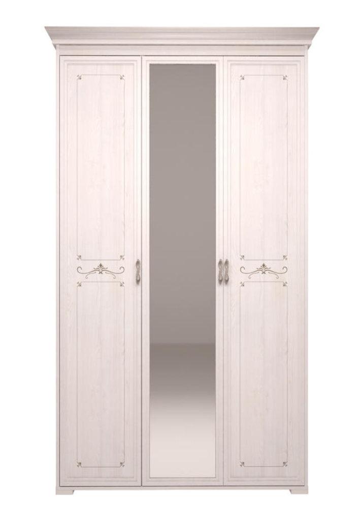 Шкафы для одежды и белья: Шкаф для платья и белья 3-х дв с зеркалом 06 Афродита без карниза в Стильная мебель