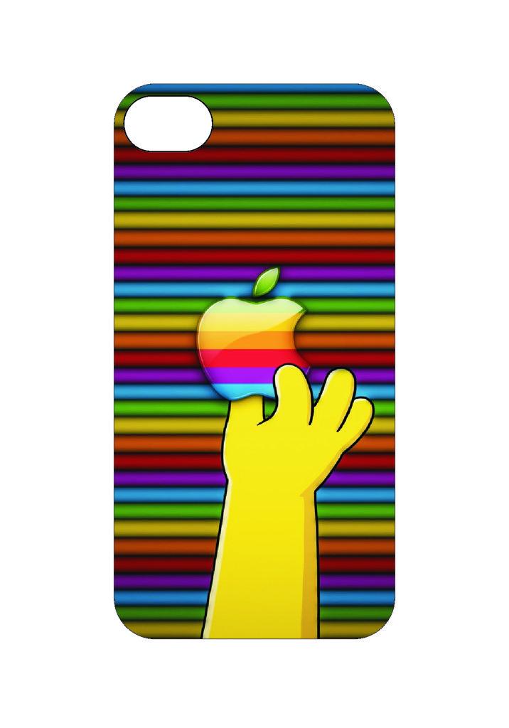 Выбери готовый дизайн для своей модели телефона: Симпсон Apple в NeoPlastic