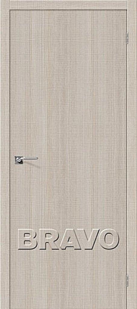 Двери экошпон BRAVO: Порта-50 Cappuccino Crosscut в STEKLOMASTER