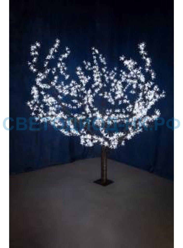 """Светодиодные деревья: Дерево """"Сакура"""", 1,5м, d кроны 1,8м, белые , IP 54, 24В, трансф. 864LED 531-105 Neon Night в СВЕТОВОД"""