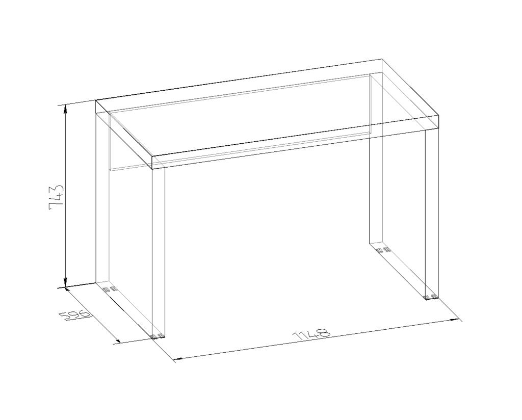 Письменные столы: Стол письменный BERLIN 47 в Стильная мебель