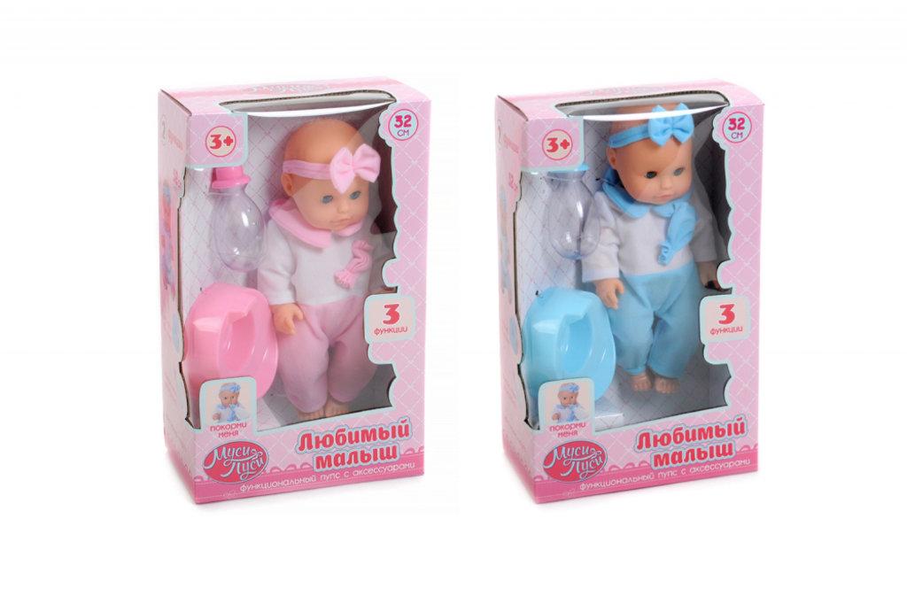 "Игрушки для девочек: Пупс ""Муси-Пуси"" 32 см, с аксессуарами, 3 функции. в Игрушки Сити"