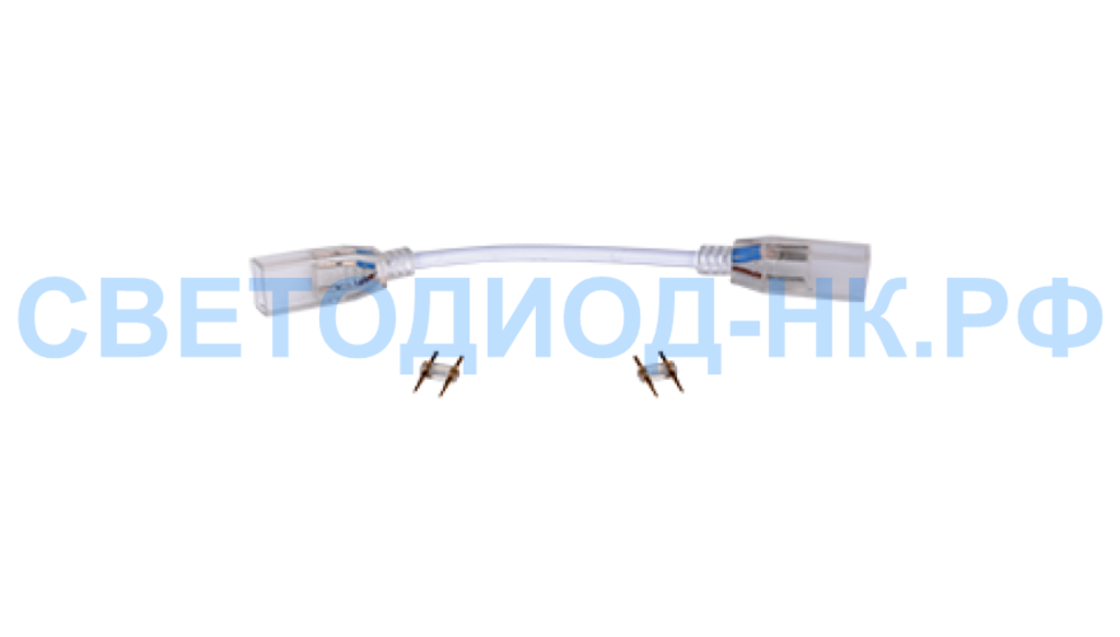 Комплектующие к ленте: Ecola Коннектор 220V 14x7 гибкий соединитель лента-лента 2-х конт SCVN14ESB в СВЕТОВОД