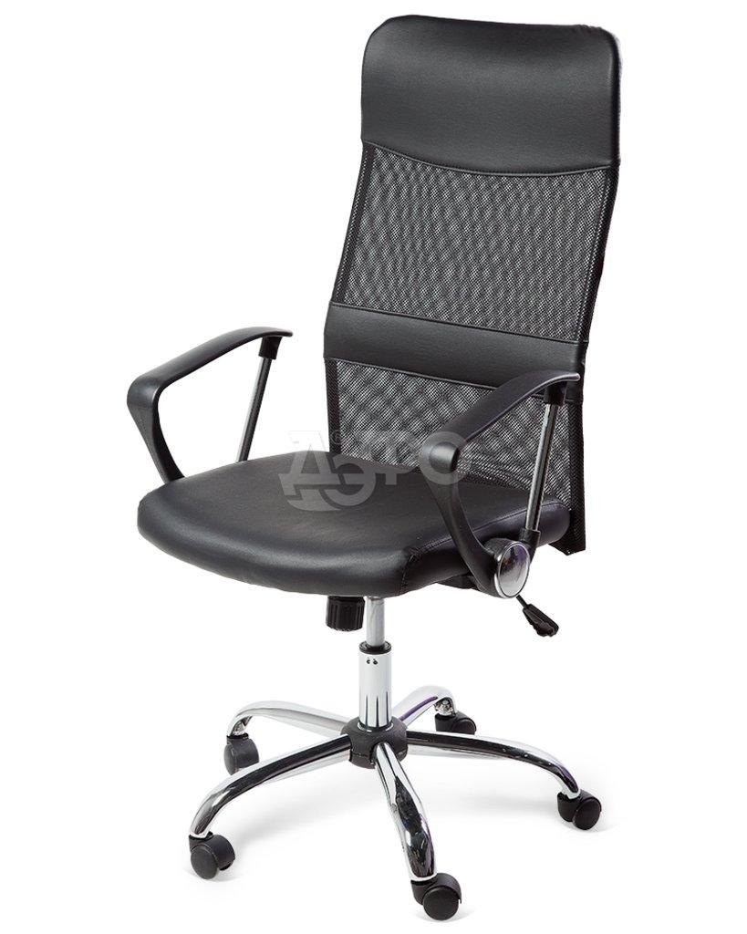 Рабочие кресла: КРК КРЕСЛО DIRECT (3012H) (62*62,5h111-121) (экокожа, черный) в Дэфо Красноярск