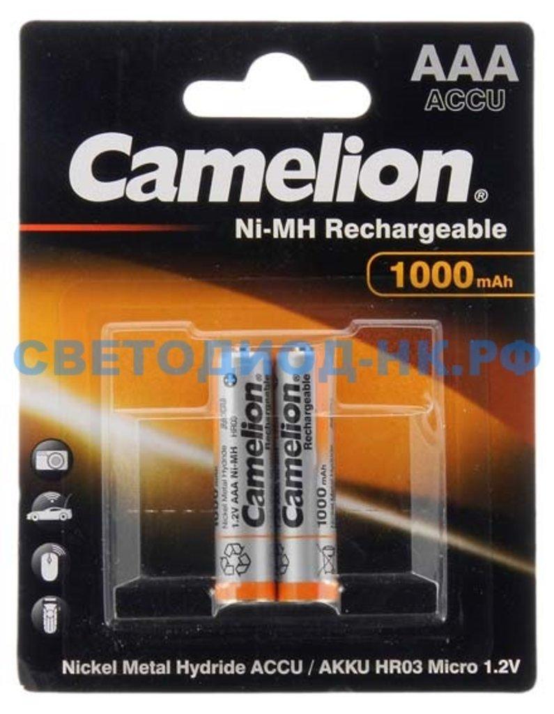 Акумуляторы: Аккумулятор CAMELION R03 1000mAh Ni-MH BL-2 в СВЕТОВОД