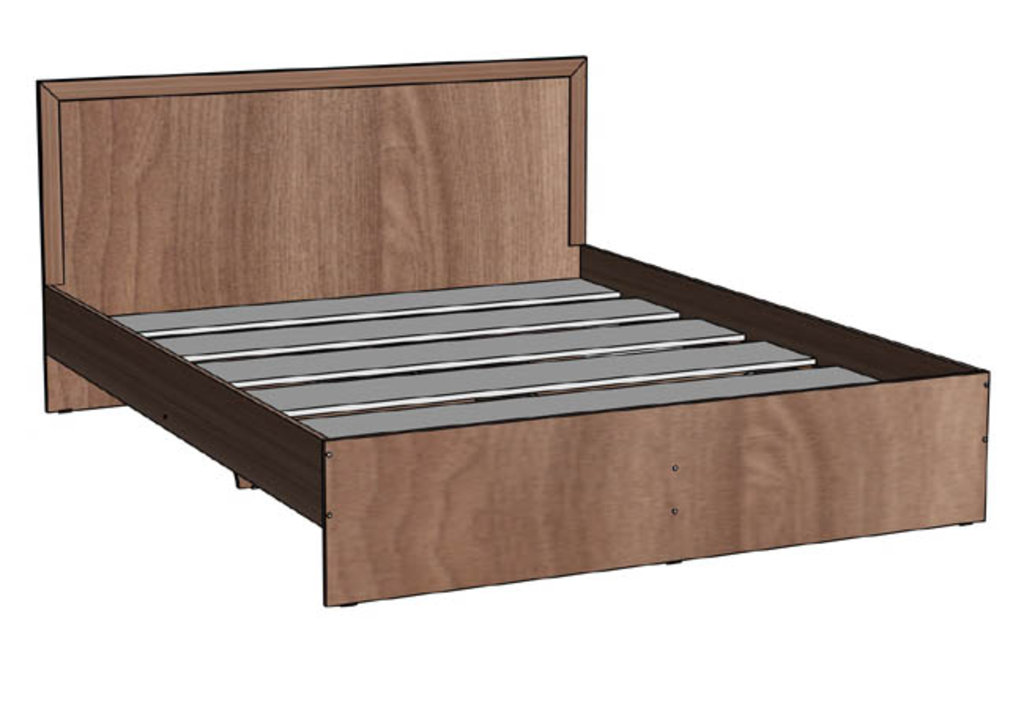 Кровати: Кровать двуспальная 1600 серия Соната в Стильная мебель