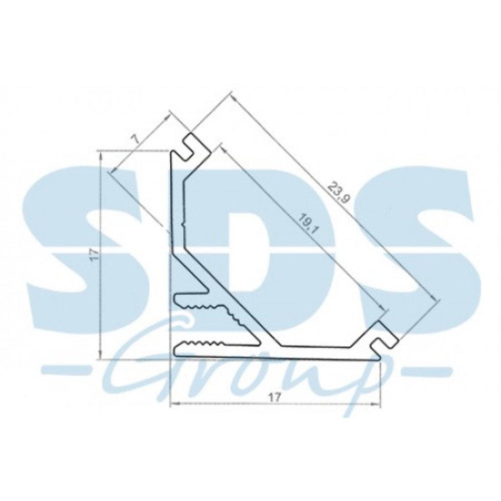Алюминиевый профиль: REXANT профиль угловой алюминиевый 1717-T-2 2 м, 146-234 в СВЕТОВОД