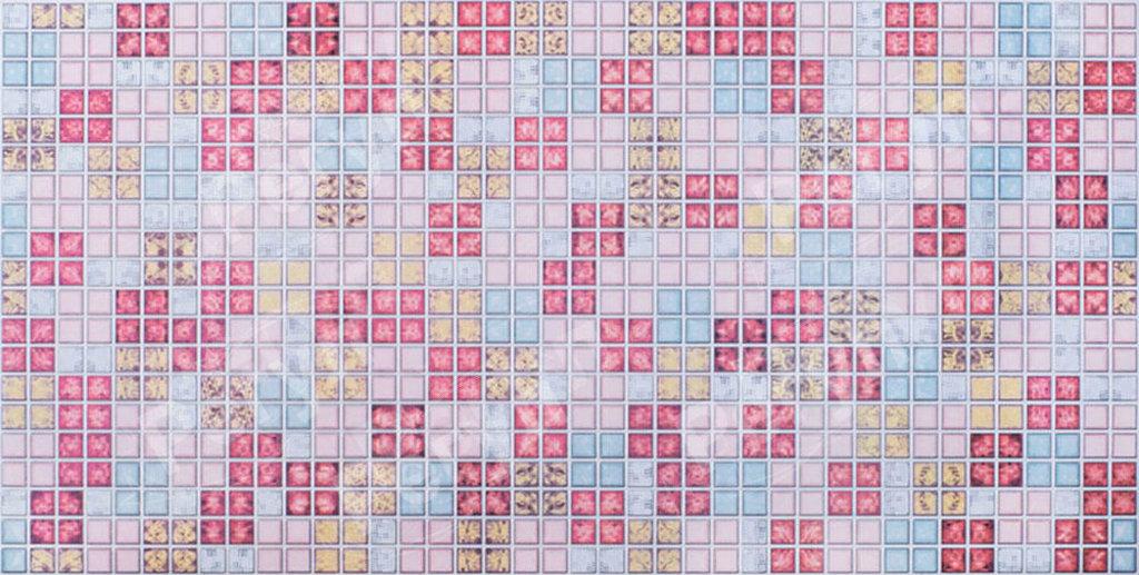 Панели ПВХ: Мозаика Блик красный в Мир Потолков