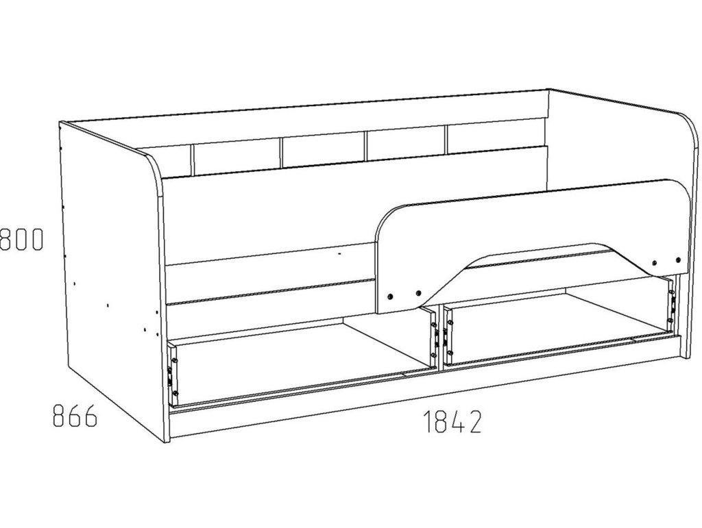 Детские и подростковые кровати: Кровать НМ 039.04 Акварель (800х1800, усилен. настил) в Стильная мебель