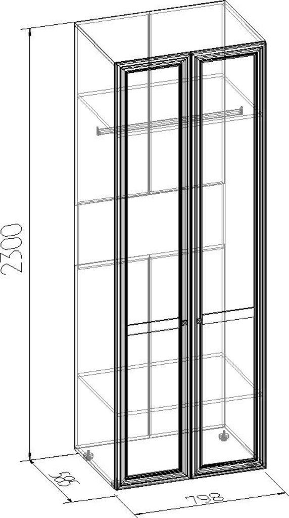 Шкафы для одежды и белья: Шкаф для одежды PAOLA 54 (Стандарт+Стандарт) в Стильная мебель