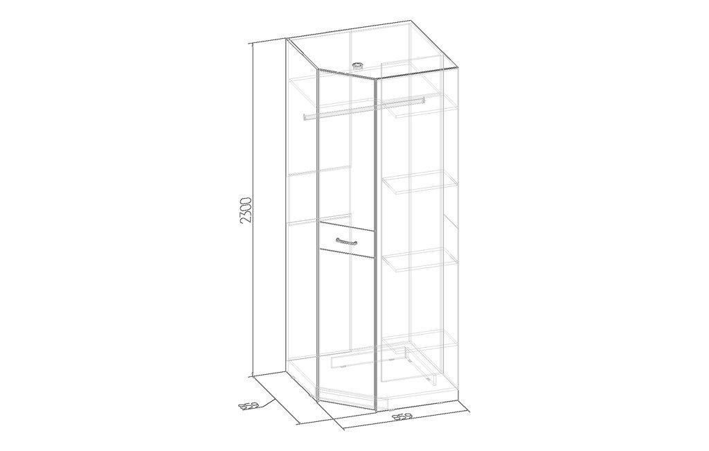 Шкафы для спальни: Шкаф угловой WYSPAA 37 в Стильная мебель