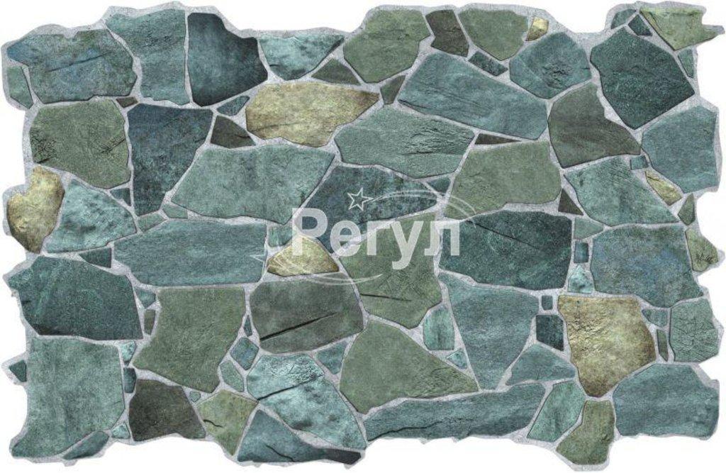 Панели ПВХ: Камень Дикий зеленый в Мир Потолков