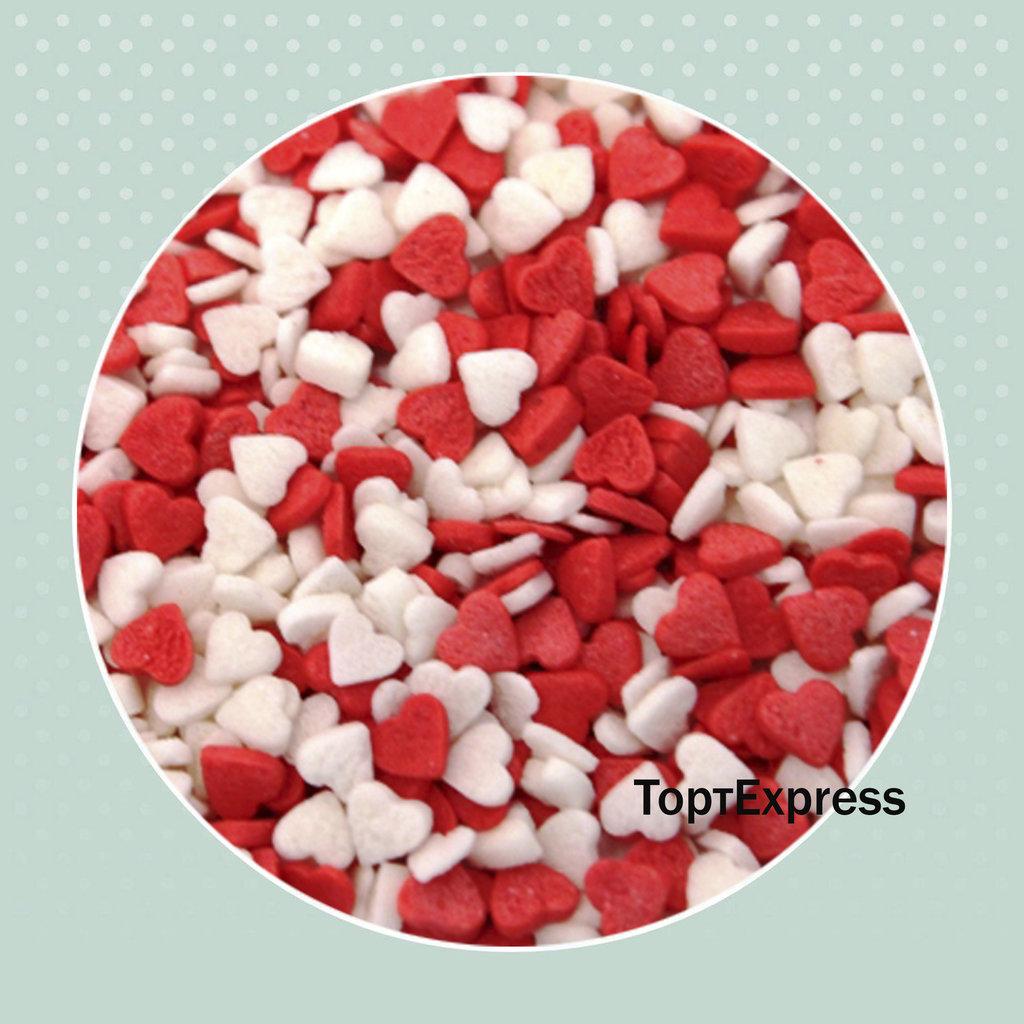 "Украшения, декор: Посыпка сахарная ""Сердечки красно-белые"" мини 750г в ТортExpress"