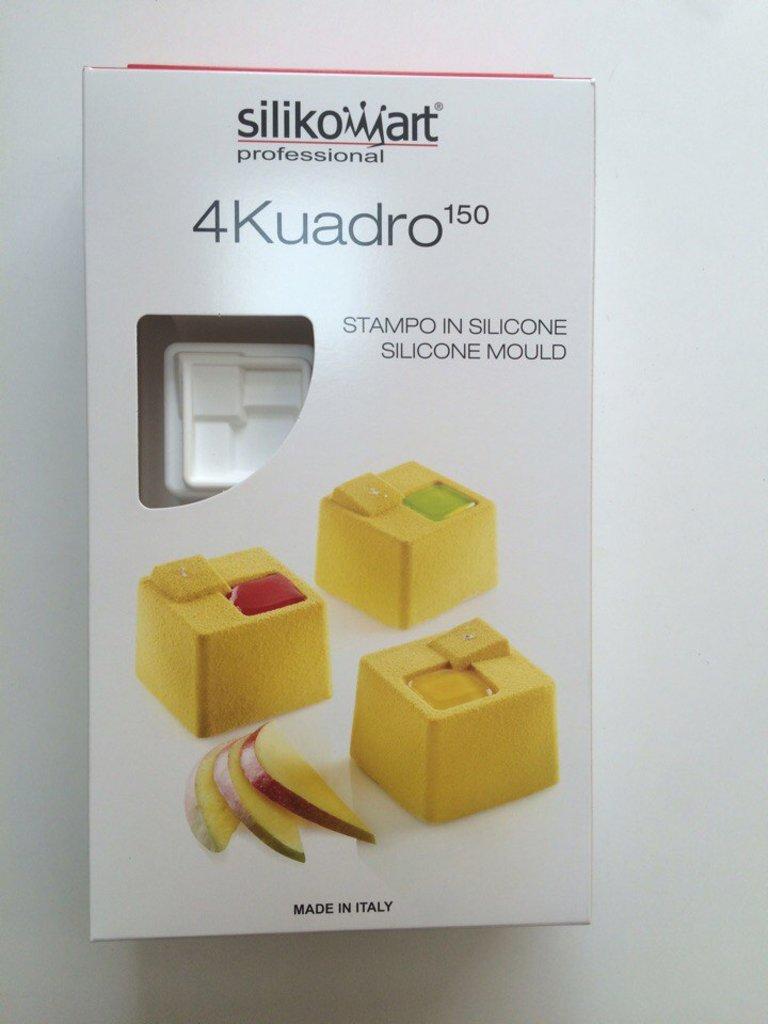 3d формы: Силиконовая форма для муссовых тортов Silikomart 4Kuadro150 в ТортExpress