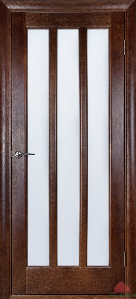 Двери Белоруссии  шпонированые: Троя (тёмный орех) в STEKLOMASTER