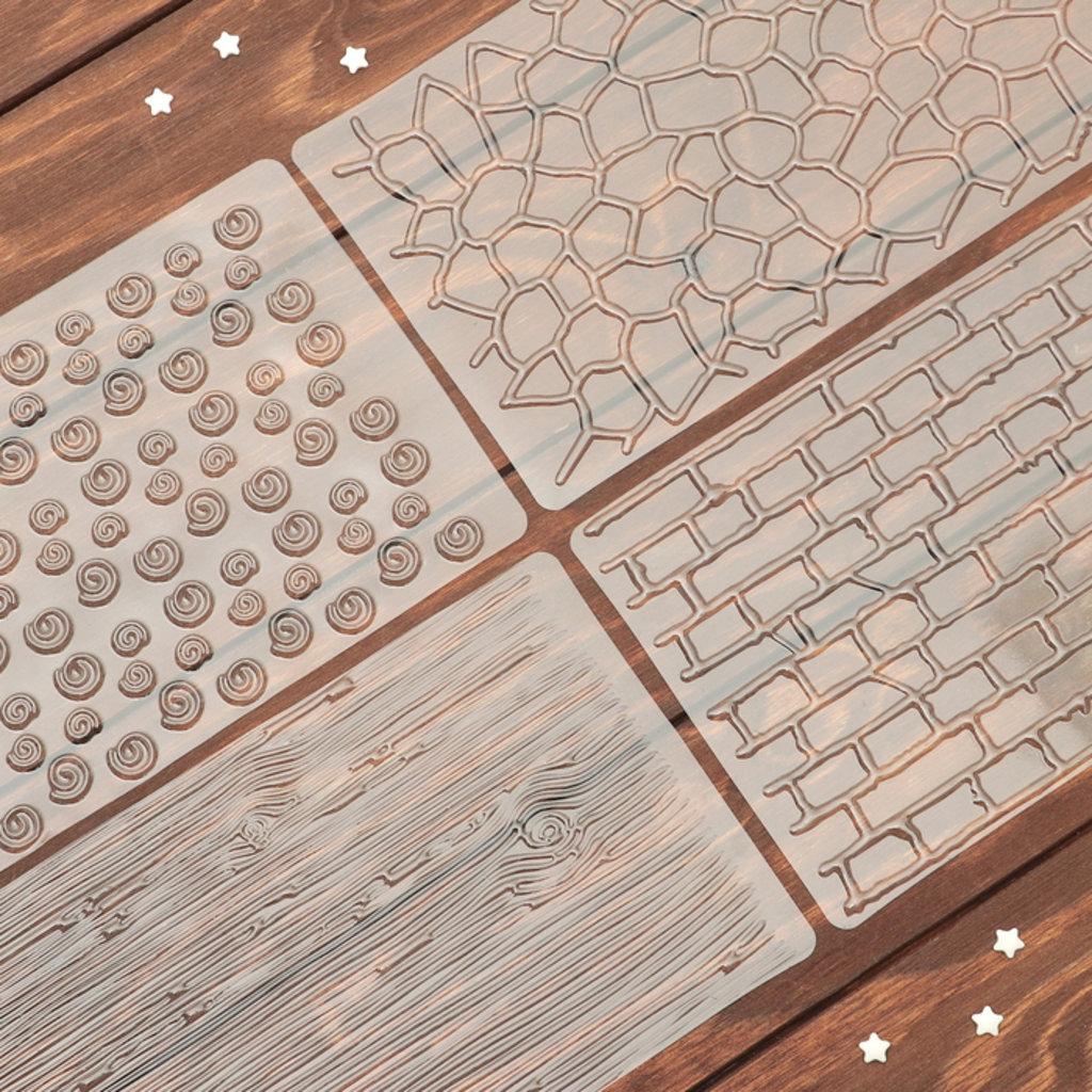 Кондитерский инвентарь: Набор молдов кондитерских для украшения выпечки Кирпичи (набор 4шт) в ТортExpress