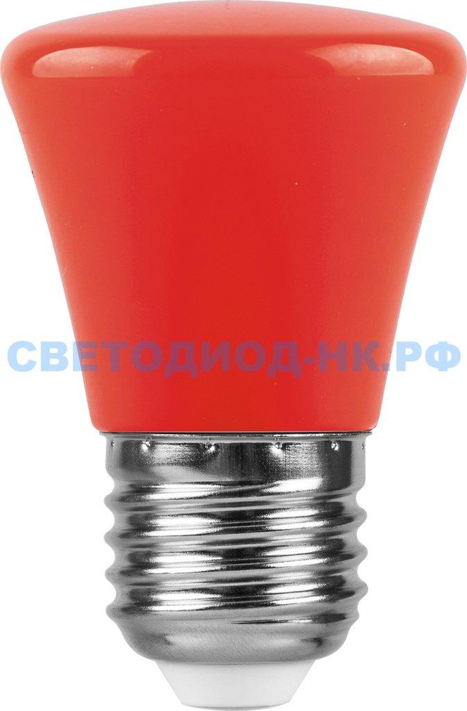 Цветные лампы: Светодиодная лампа LB-372 (1W) 230V E27 красный Колокольчик для белт лайта в СВЕТОВОД