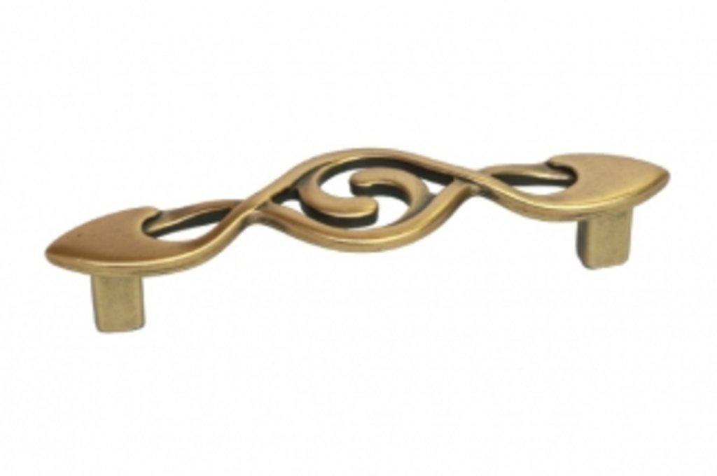 Коллекция КЛАССИКА: Ручка-скоба 96мм, отделка бронза античная французская в МебельСтрой