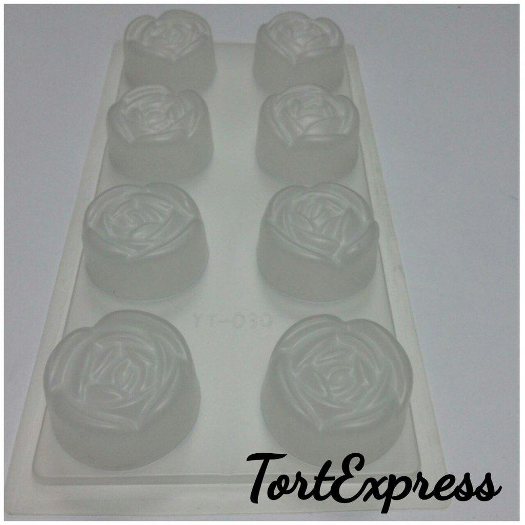 """Кондитерский инвентарь: Пластиковая форма для шоколада """"Розы"""" в ТортExpress"""