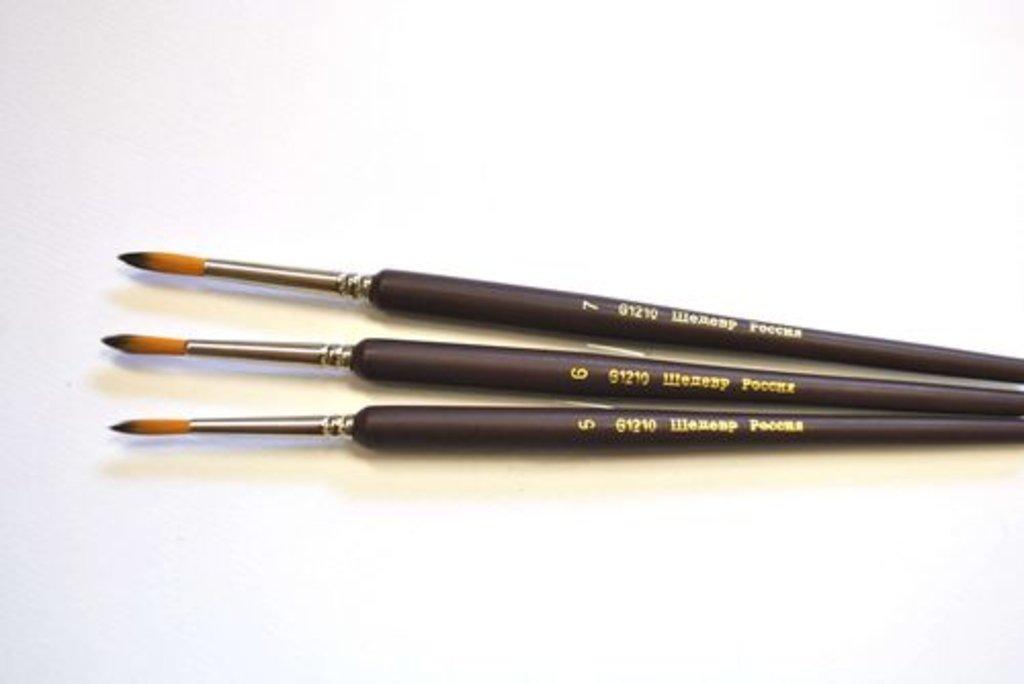Синтетика: Кисть синтетическая круглая с короткой ручкой Шедевр №5    G1210 в Шедевр, художественный салон
