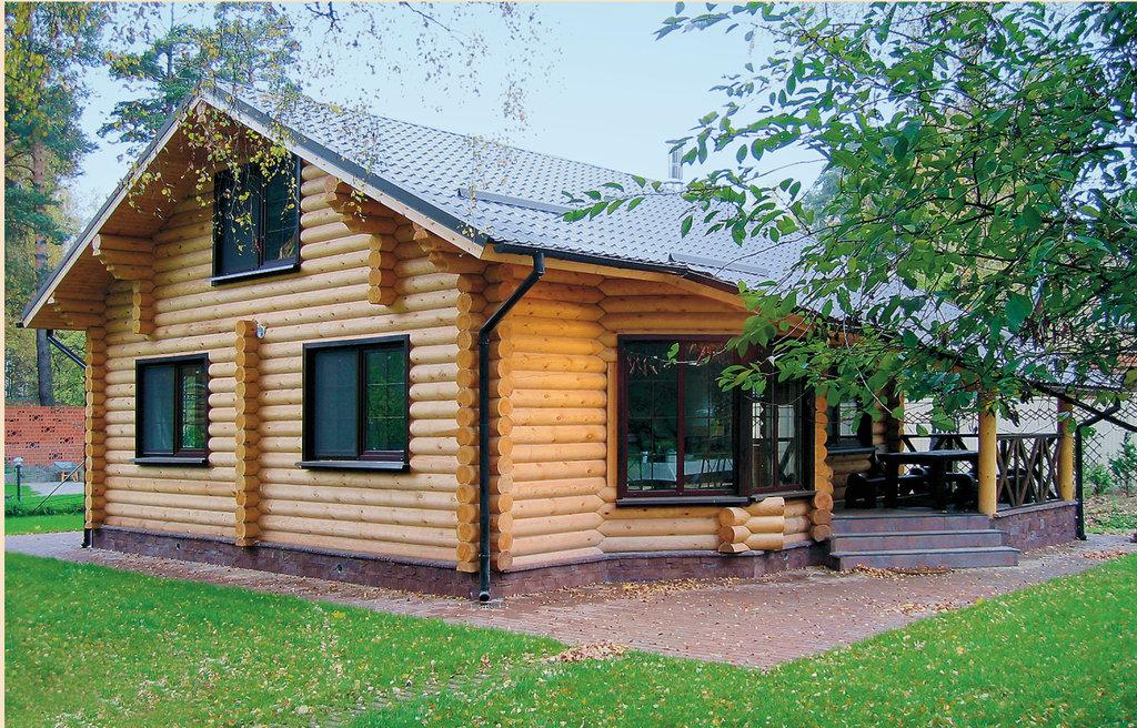 Строительство: Дом из оцилиндрованного бревна (чистовой вариант без отопления) в А-Строй