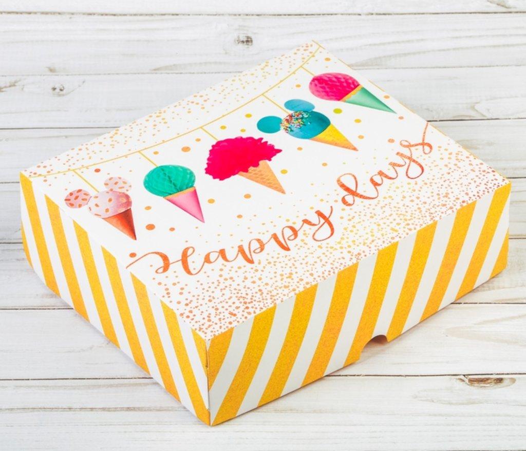 Упаковка: Коробка подарочная складная Happy days в ТортExpress