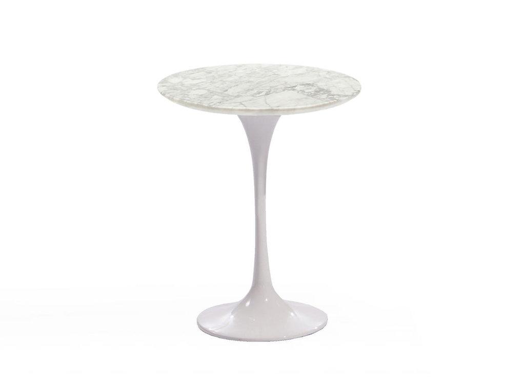 Журнальные и кофейные столики: Стол кофейный Априори T 42 см 13т столешница мрамор белый в Актуальный дизайн