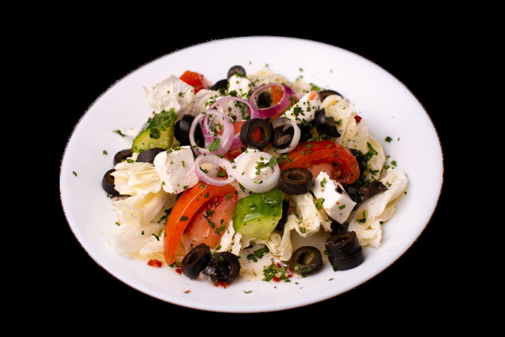 Салаты и закуски: Салат Греческий 150 гр в Сбарро