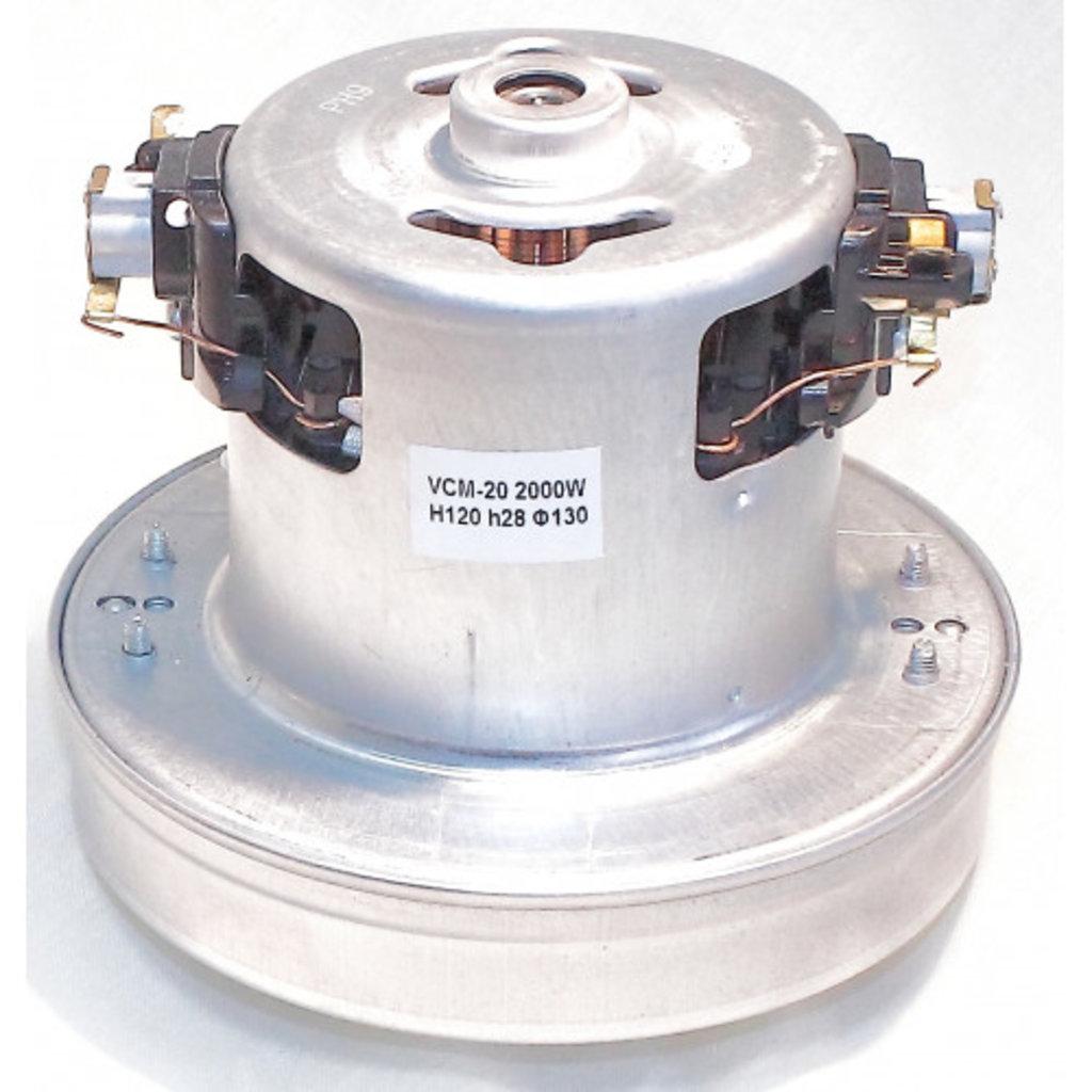 Запчасти для пылесосов: Мотор (двигатель) пылесоса 2000W, H=120mm, h=28mm, D=130mm, VCM-20, VAC023UN, 11me119 в АНС ПРОЕКТ, ООО, Сервисный центр
