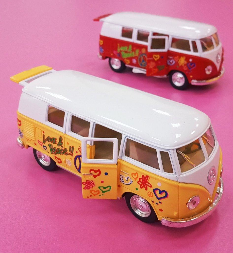 Игрушки для мальчиков: Металлическая модель Volkswagen (Фольксваген) Classical Bus Хиппи в Игрушки Сити