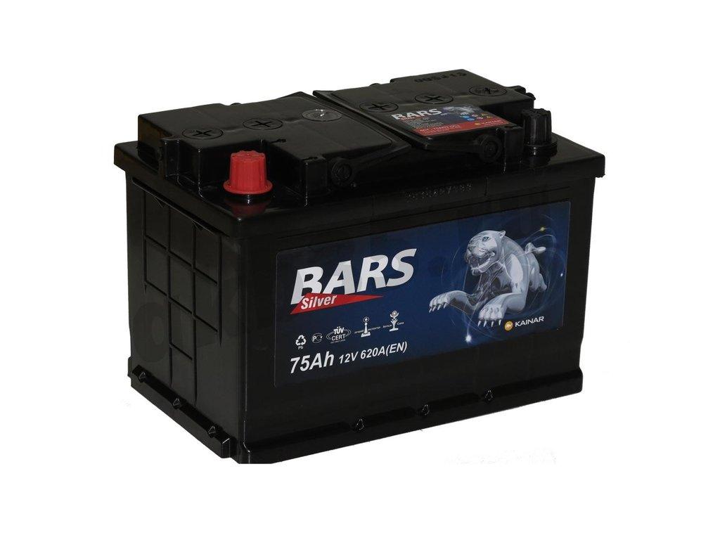 Аккумуляторы: BARS 75 А/ч Прямой Silver в Планета АКБ