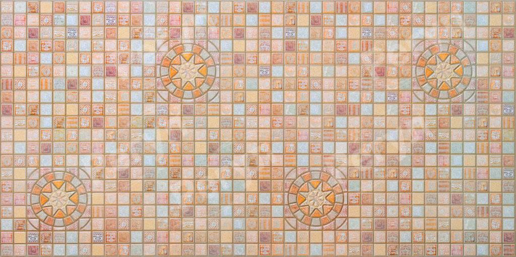 Панели ПВХ: Мозаика Медальон коричневый в Мир Потолков