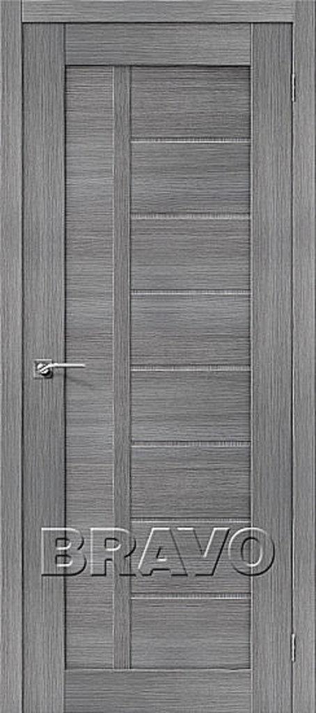 Двери экошпон BRAVO: Порта-26 Grey Veralinga в STEKLOMASTER