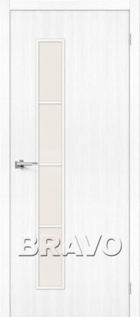 Двери экошпон BRAVO: Тренд-4  Snow Veralinga в STEKLOMASTER