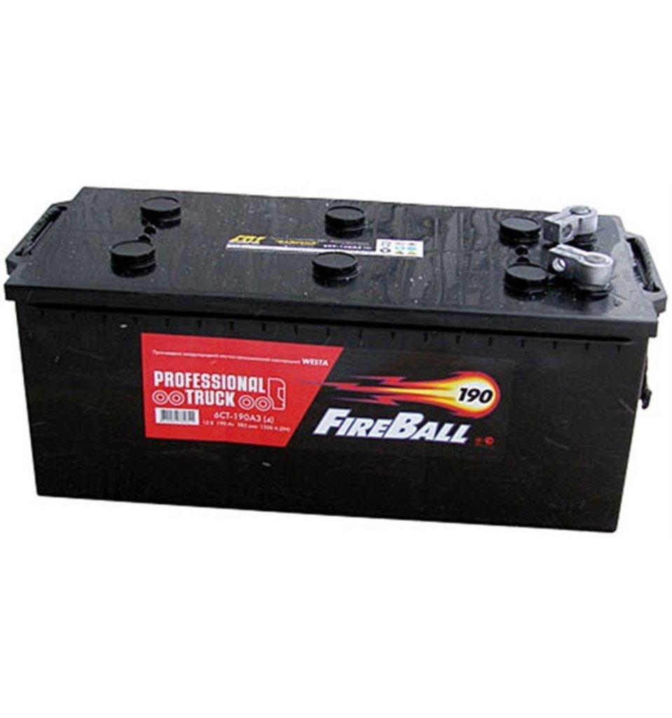 FireBall: Аккумулятор FireBall 6СТ-190 в БазаАКБ
