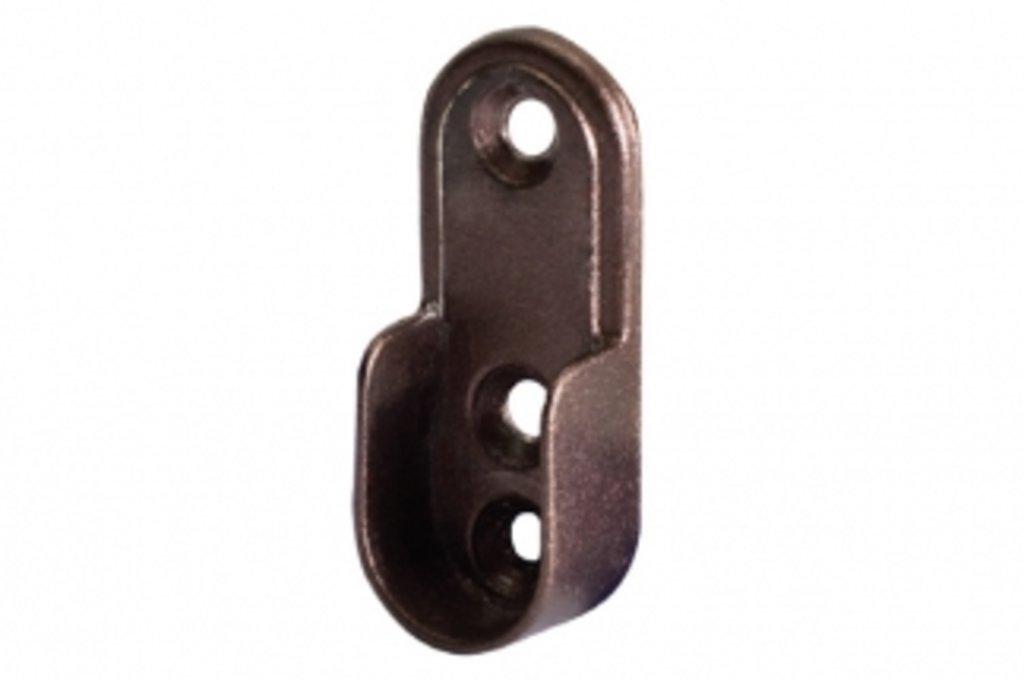 Аксессуары для шкафов: Держатель штанги 15х30 (3 боковых отверстия), арабика в МебельСтрой