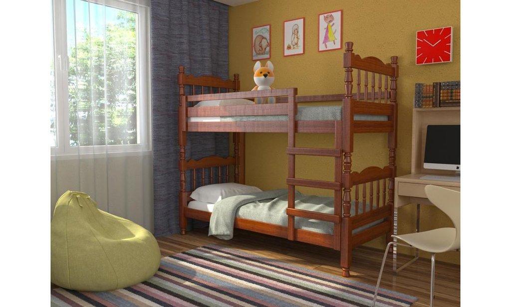 Детская двухъярусная кровать Соня: Детская двухъярусная кровать Соня в Уютный дом