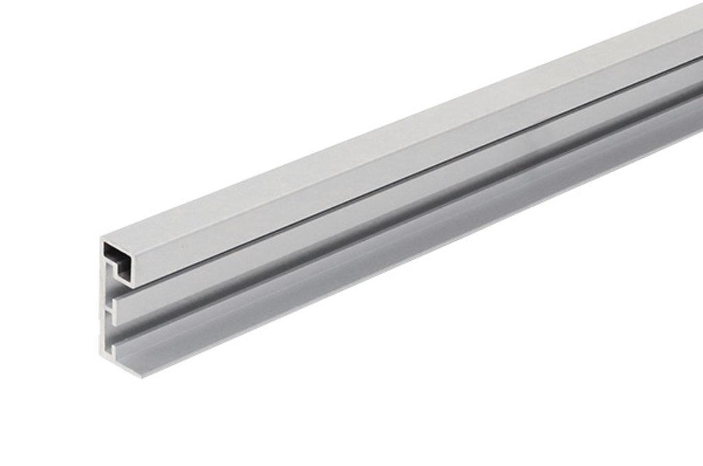 Система раздвижных дверей LIVING BASE: Профиль вертикальный под наклейку стекла L=3000, отделка алюминий в МебельСтрой