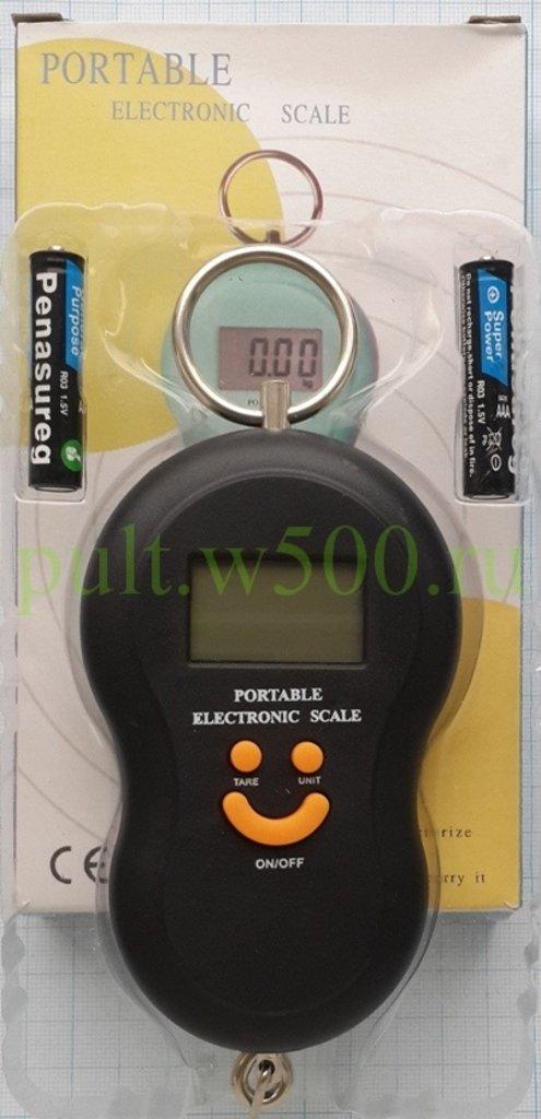 Бытовые проборы: Весы электронные ручные с крючком, 50кг, 10гр, чёрные ( QJ101 ) коробка в A-Центр Пульты ДУ