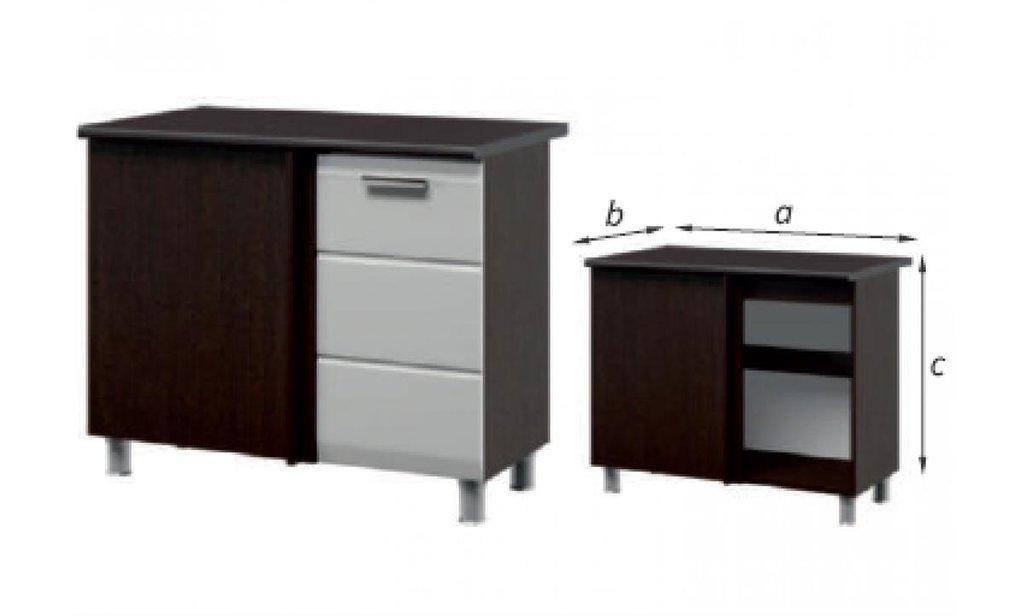 Кухонный гарнитур Сириус: Шкаф-стол под мойку угловой Сириус, 1-дверный 1000 в Уютный дом