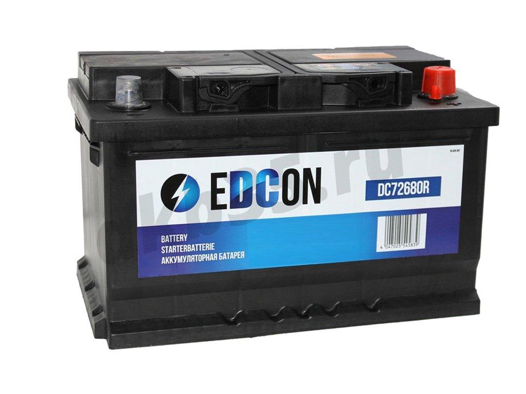 Аккумуляторы: EDCON 74 А/ч Обратный (DC74680R) в Планета АКБ