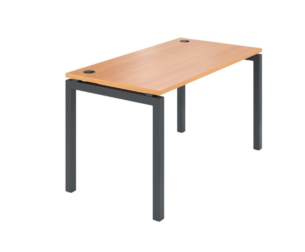 Офисная мебель столы, тумбы Р-16: Стол рабочий на металлокаркасе (16) 1400*600*740 в АРТ-МЕБЕЛЬ НН