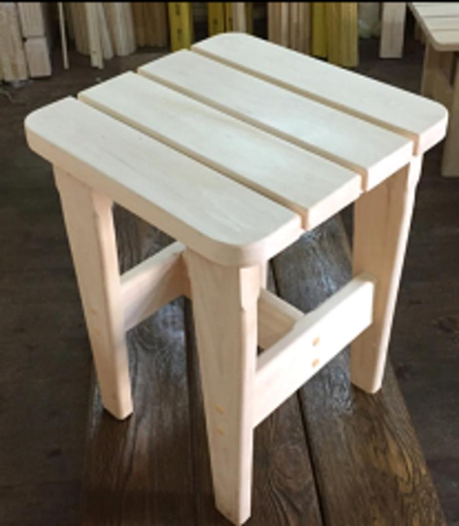 Мебель для саун и бань: ТАБУРЕТ ЛИПА (полог) в Погонаж