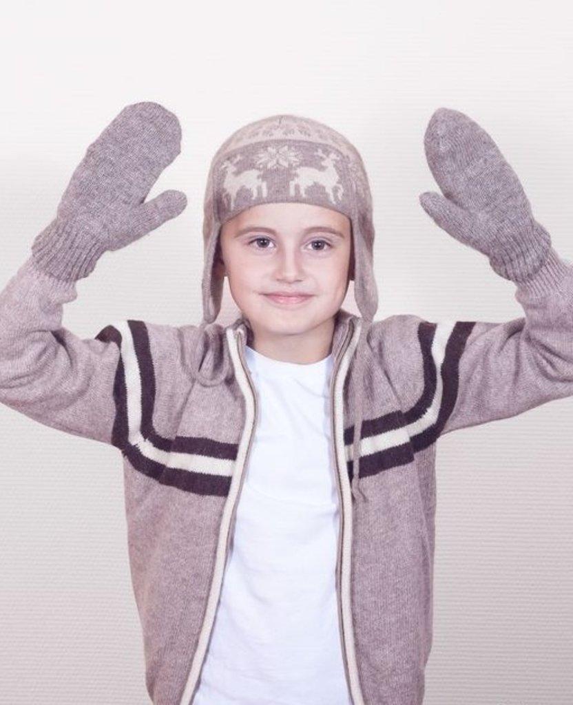 Варежки и перчатки: Варежки детские из шерсти яка в Сельский магазин