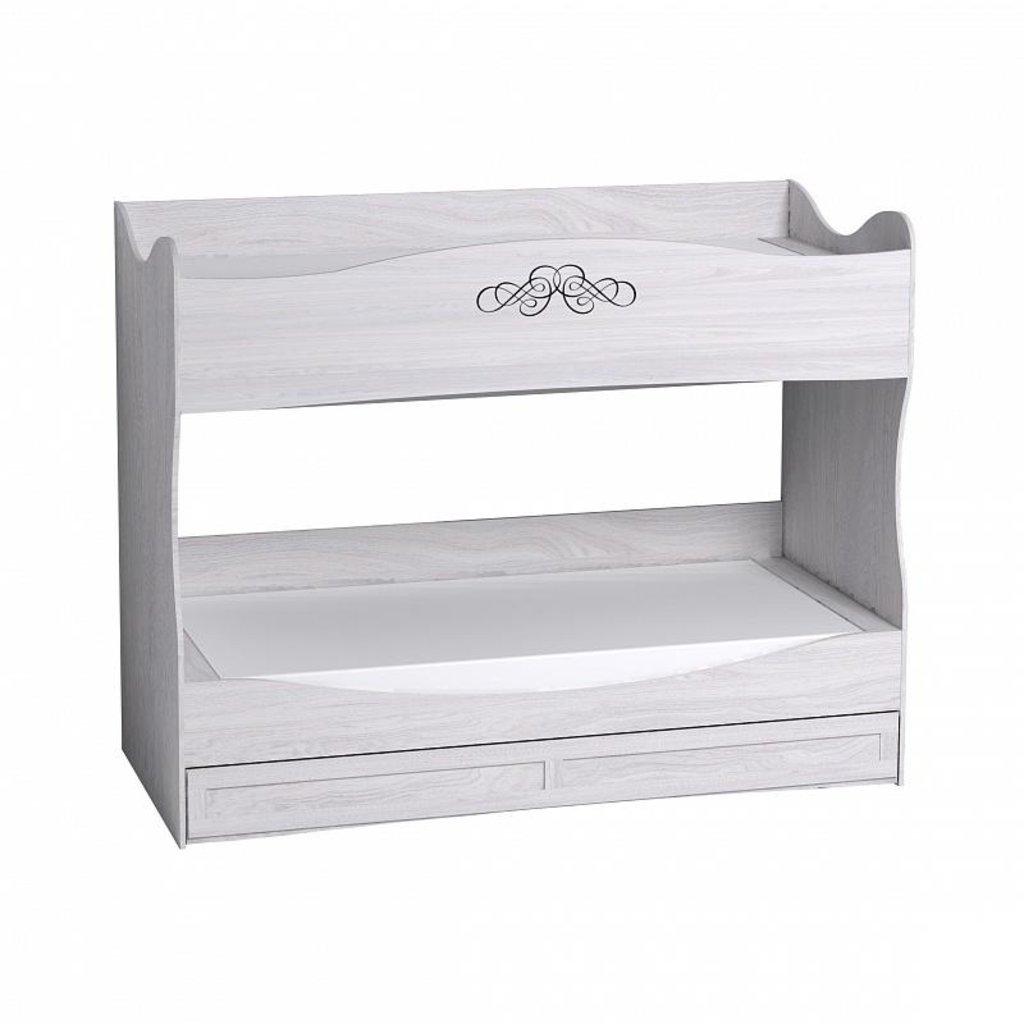 Детские и подростковые кровати: Кровать двухъярусная ADELE 90 (900x1900, усилен. настил) в Стильная мебель