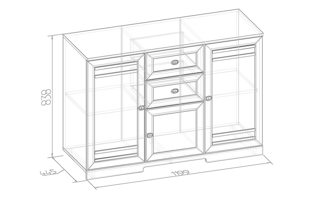 Этажерки и тумбы: Тумба МЦН БРИЗ 5 в Стильная мебель